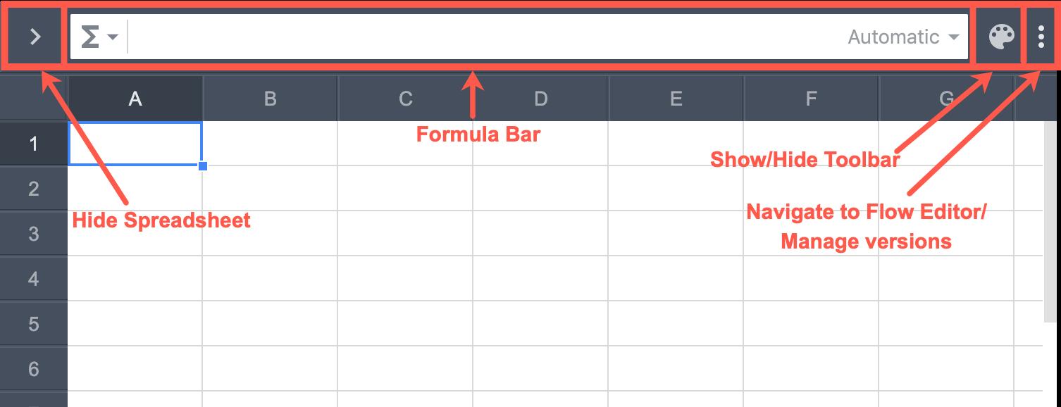 Spreadsheet Topbar